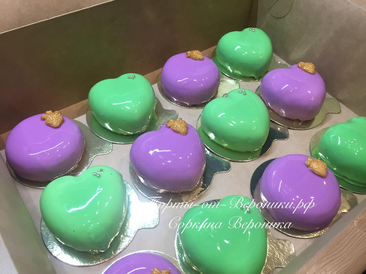 Муссовые пирожные с зеркальной глазурью рецепт пошагово в